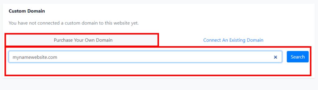 how to buy domain on olitt