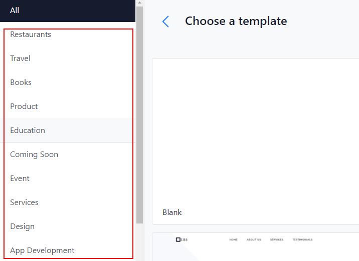 how to create a website using olitt